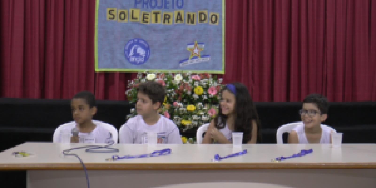 SOLETRANDO: Escola Jairo Grossi desenvolve projeto que reforça alfabetização